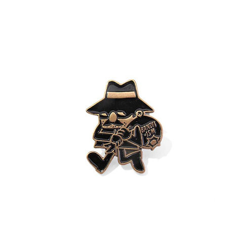 Robber Mascot Pin by 123 Klan