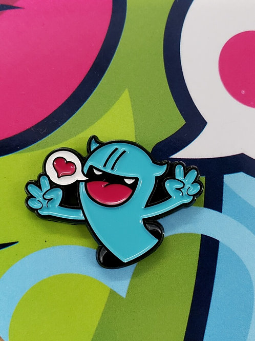 Love Worm Pin by Golden