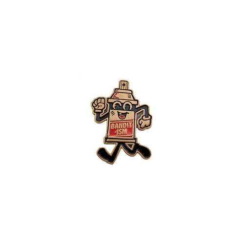 Spray Can Mascot Pin by 123 Klan