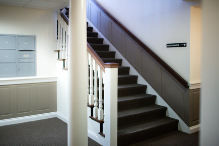 Stairwell for social distancing