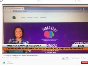 Jornal Local: Mulher empreendedora - Curso ajuda mulheres de baixa renda no empreendedorismo