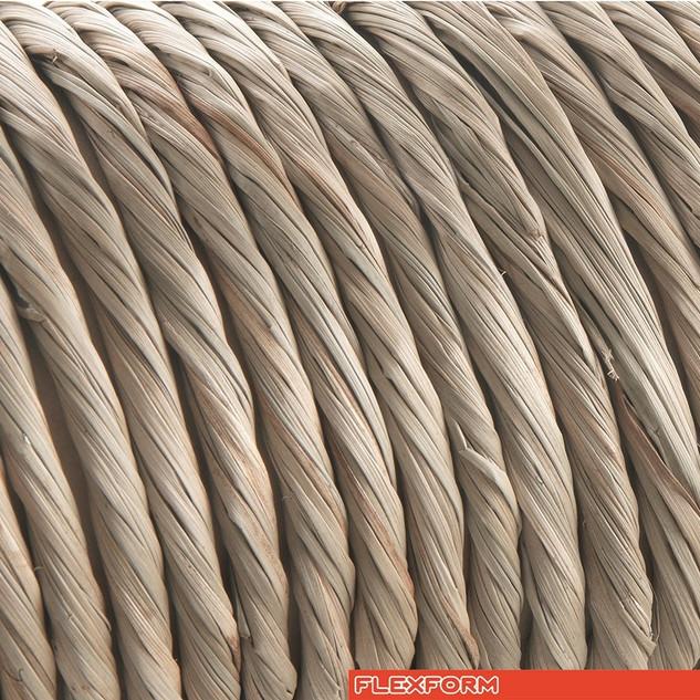 Woven paper rush cord