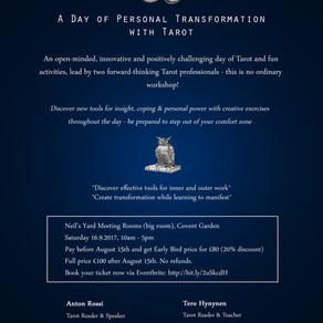 Tarot-Mindfulness workshop in September