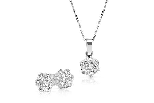Grand Pave Blossom Solitaire Diamond Set
