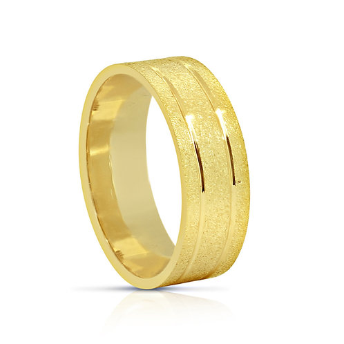 Oriental Rough Surface Finish Gold Ring