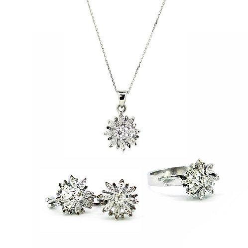 Diamond Flower Fulla Solitaire Set