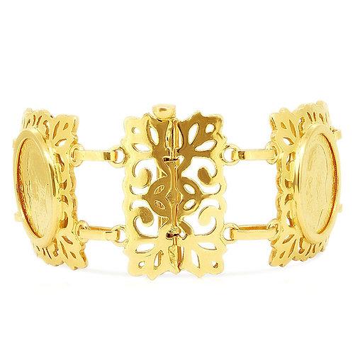 Four 1/1 Sovereign King George Coins Bracelet