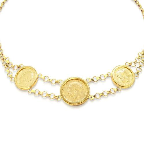 Gold Necklace, Oriental English Lera