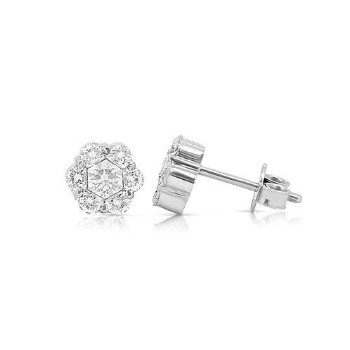 Grand Pave Blossom Solitaire Diamond