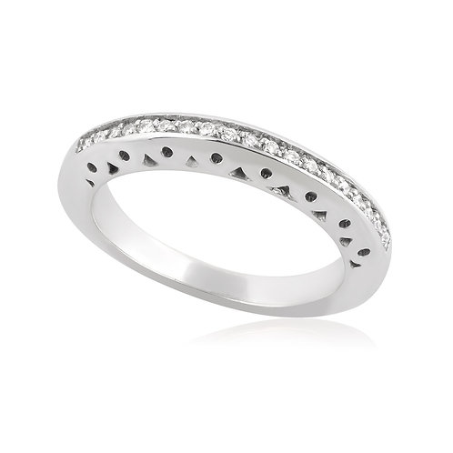 Modern Shape Wedding Band