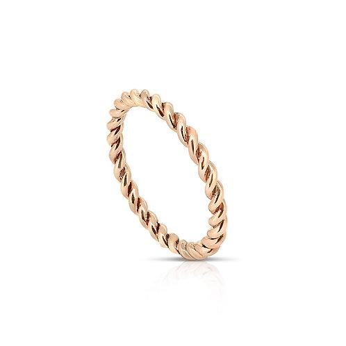 Rose Oriental Twirl Spiral Ring