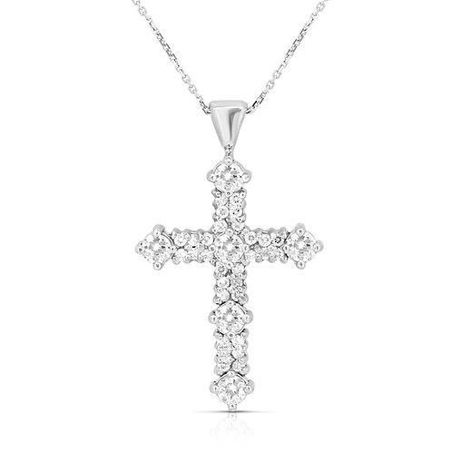 Gold Pave Diamond Cross Pendant