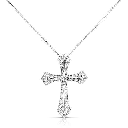 Vintage Diamond Cross Pendant