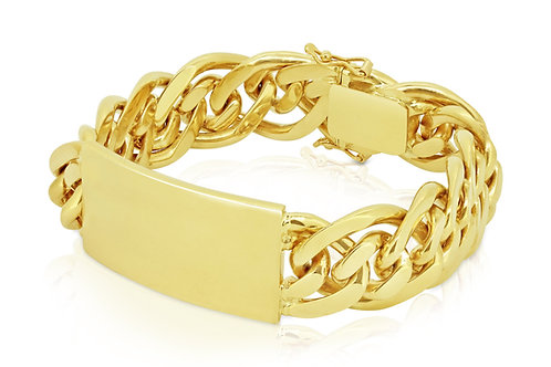 Heavy Wide Yellow Plate Gourmet Bracelet