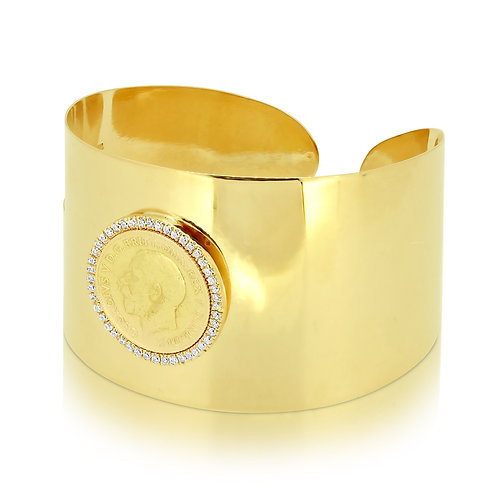 3cm 1/2 Sovereign Bracelet Open Bangle