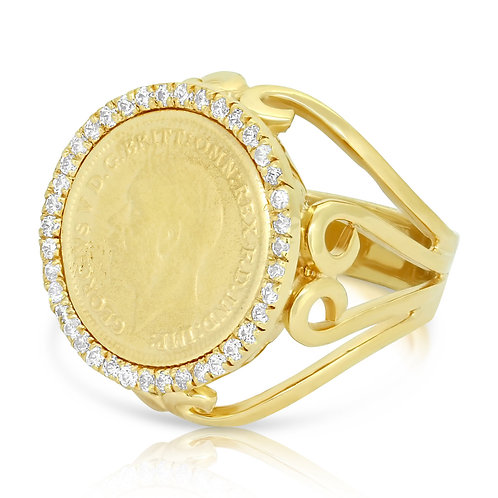 CZ Oriental 1/4 Sovereign Ring