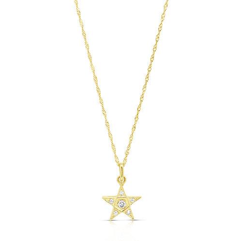 Vintage Diamond Star Pendant