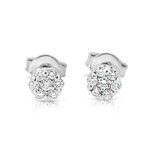 Casual Diamond Flower Earrings