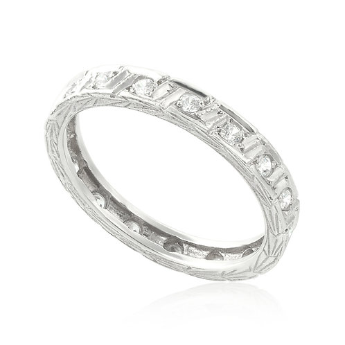 Greek Deep Setting Eternity Ring