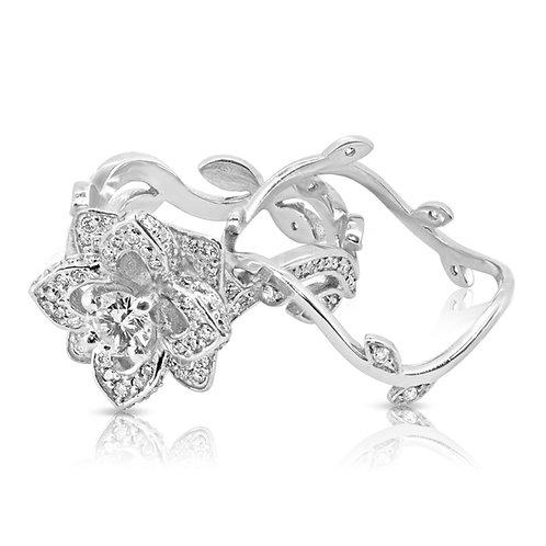 Special Flower & Leaves Diamond Set
