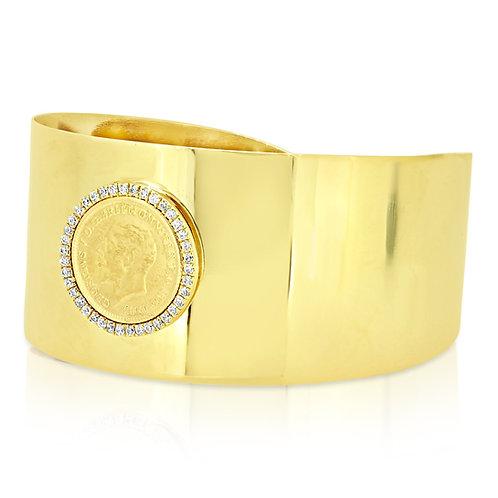 3cm 1/4 Sovereign Bracelet Open Bangle