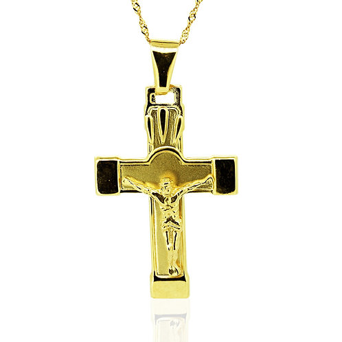 Gold Pendant Necklace Cross