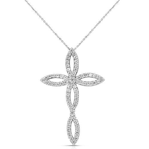 Vintage - Classic Diamond Cross Pendant