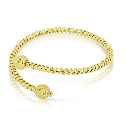 Crowned Head Yellow Gold Bracelet