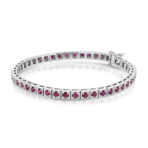 and flat bracelet ruby bracelets diamond