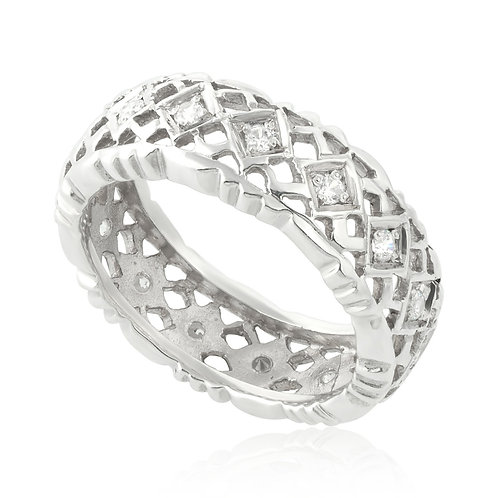 Vintage Squared Setting Wedding Ring