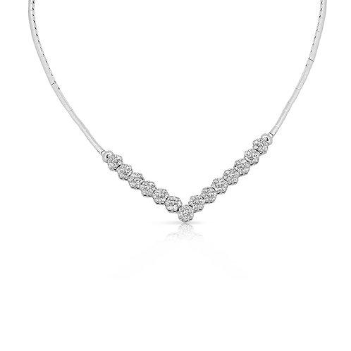 Mini Flower Blossom Diamond Set Necklace & Bracelet