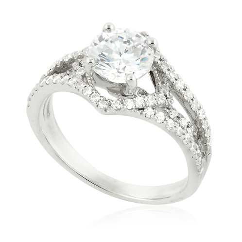 Unique Pave Engagement Ring