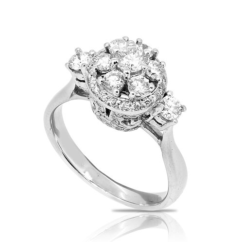 Royal Crown Diamond Head Anniversary Ring