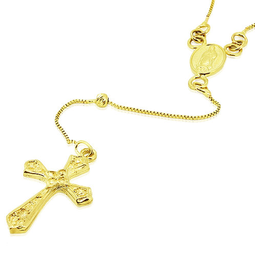 Rosary Gold Pendant 17 inch chain