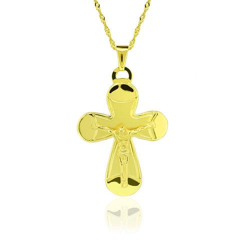 Chubby Gold Cross Pendant