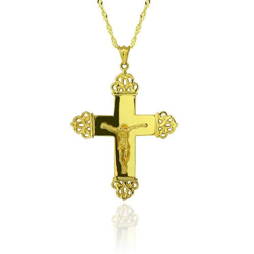 Gold Byzantine Cross Pendant