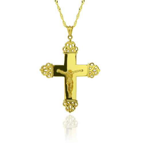 Gold byzantine cross pendant home nazareth kattouf jewellery gold byzantine cross pendant mozeypictures Image collections