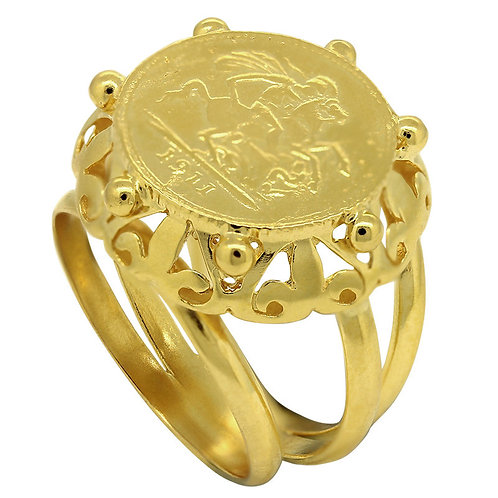 Triple Shank Traditional Gold Ring