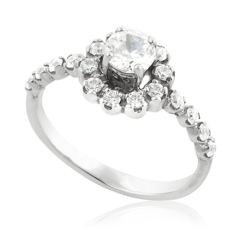 Modern Diamond Bold Blossom Prong
