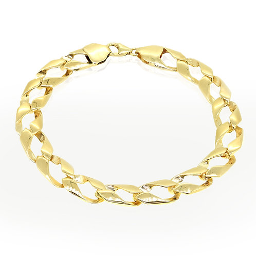 Smooth Men Gold Chain Bracelets