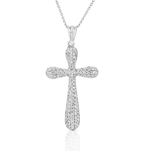 Drops Sides Diamond Cross Pendant