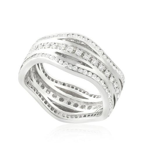 Modern Bold Wide Eternal Ring