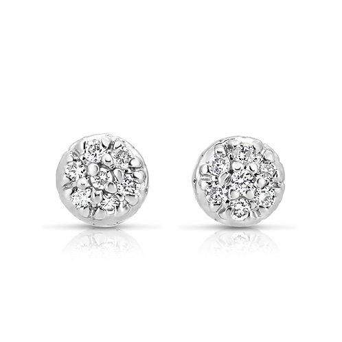 Petit Diamond Flower Bouquet Earrings