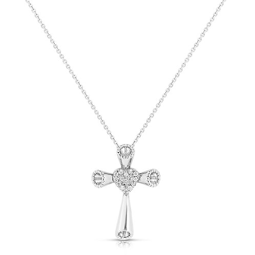 Diamond Valentine's Royal Round Cross