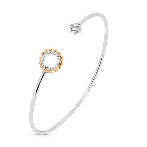 White & Rose Gold Diamond Valentine's Bracelet
