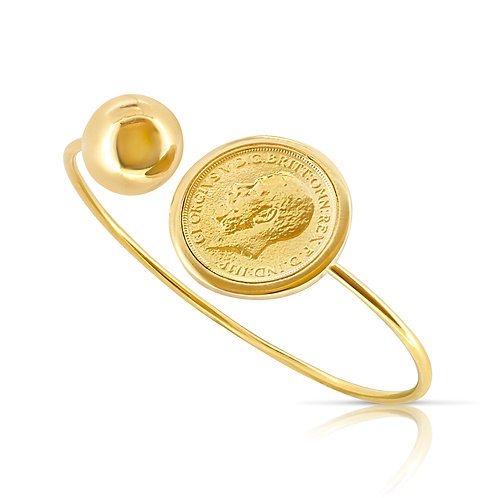 Modern Golden Ball & Coin Bracelet