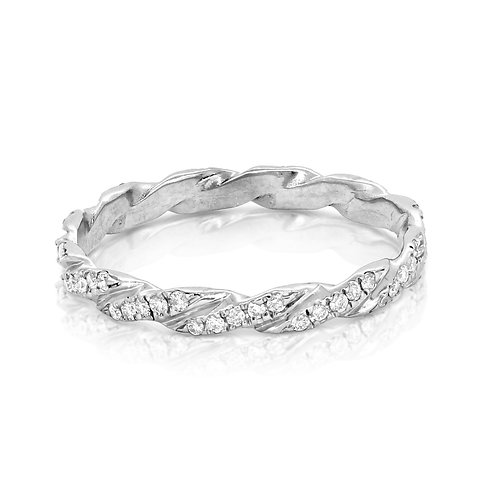 Braided Wedding Band, Twist Ring