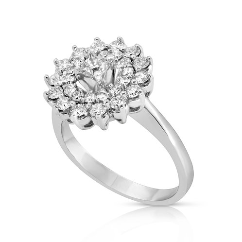 Sunflower Shape Diamond Ring