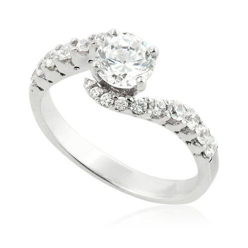 Unique Prong Engagement Ring