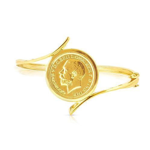 Stylish Golden Coin Bracelet